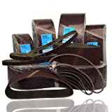 10 Stück Schleifbänder 75 x 457 mm,P 80 f. Bosch Makita Skil P80 75x457 Bandschleifer