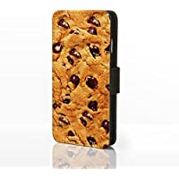 Sweet Shop Collection in finta pelle Flip Cases per iPhone modelli. Classic Vintage caramelle, cioccolato, biscotti & ghiaccio