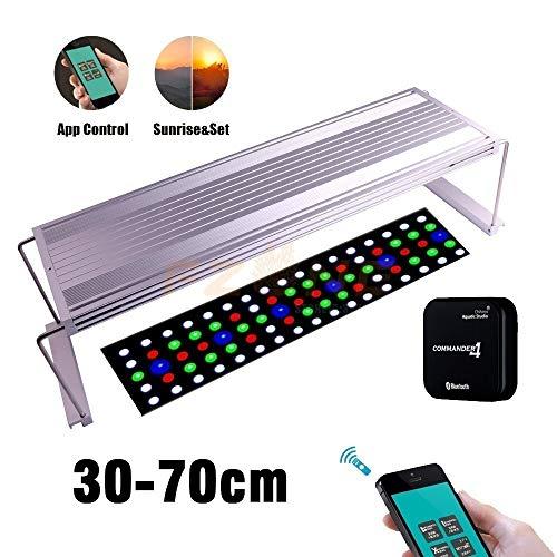 Intelligente App-Steuerung Chihiros WRGB Aquarium LED-Licht mit Weiß, Blau, Rot und einstellbarer Farbe als Sonnenaufgang Das Licht der Lampe Perle ist weich und glatt (Color : Hong On Kits) - 60 Hz Usa-kit