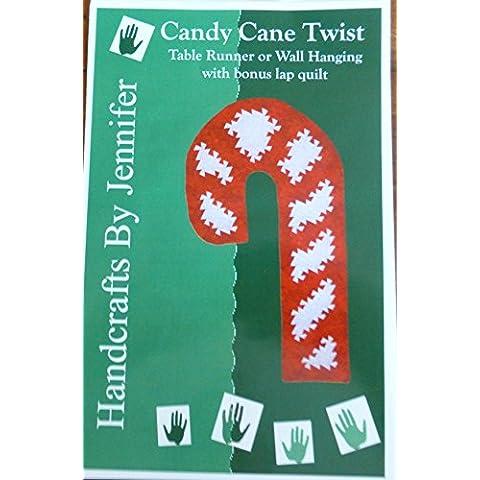 Bastón de caramelo Twist–Camino de mesa, para colgar en la pared y Lap Colcha