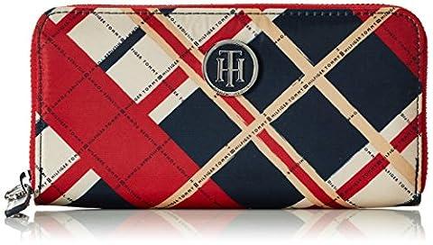 Tommy Hilfiger Damen Poppy Large Z/A Wallet Check Geldbörsen, Mehrfarbig