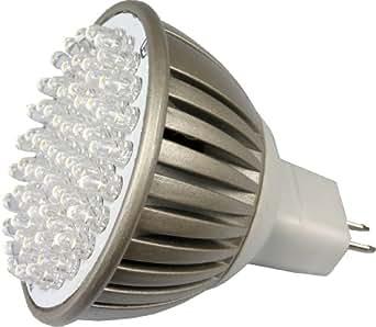 LED MR16 (GU5.3) 12V 3,8 W (320 Lumen-l'équivalent de 35 Watt) remplacement des ampoules halogène 6000K Lumière du jour, Blanc Brillant/Froid (Daylight)
