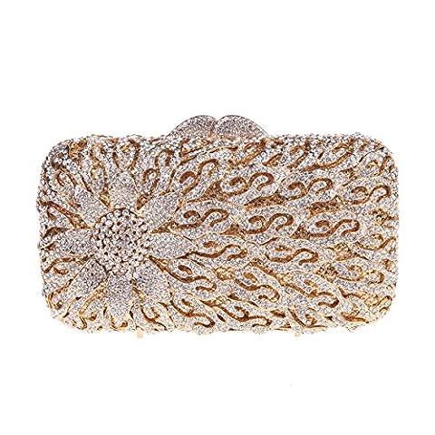 Bonjanvye Sunflower Flower Handbag for Girl Purses and Clutch for Wedding Gold