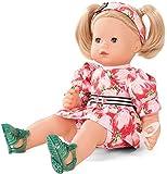 Götz Puppe Maxy Muffin Strawberry-Fields – 42 cm Stoff-Babypuppe, Blondes Haar, Blaue Schlafaugen, Spielzeug für Mädchen ab 3 Jahren (8-teiliges Set inkl. Schnuller)