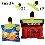 #8: Pack of 4 Bag Clips of 2 Sizes – For Quick and Easy Re-sealing of Opened Food Bags (Random Colors)