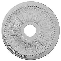 Ekena Millwork CM18BI 18-Inch OD x 3 3/4-Inch ID x 1 1/2-Inch Bailey Ceiling Medallion