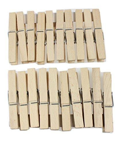 Wäsche aus Holz Clips zum Aufhängen Heringe Set 20Einheiten - 20 Einheiten