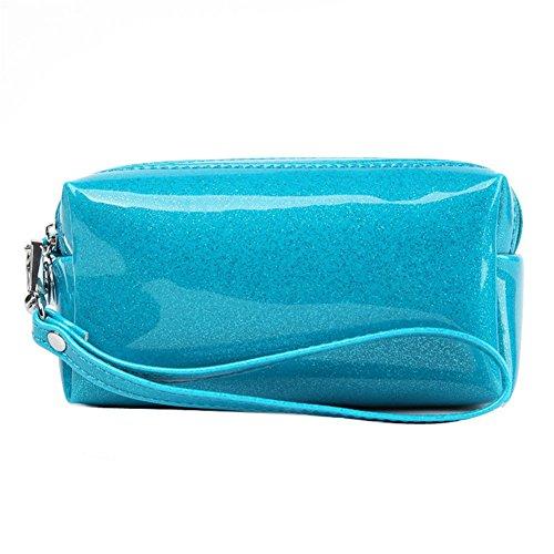 Drasawee Damen Jelly Candy Farbe mit Kosmetik-Tasche-Hand-Tasche (Jelly-geldbörse)