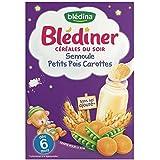 Blédina blédiner céréales semoule petits pois carottes 6 mois 240g - ( Prix Unitaire ) - Envoi Rapide Et Soignée