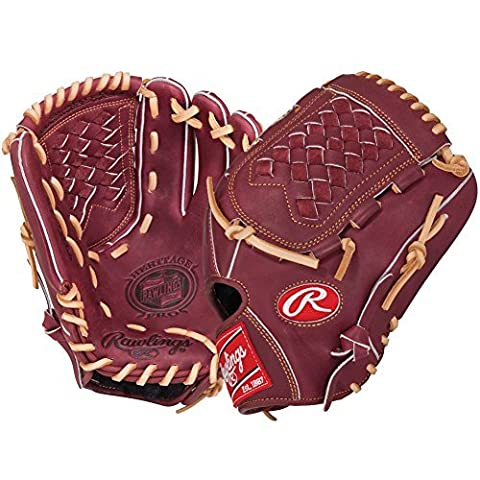 Rawlings Men's Heritage Pro Pitcher/Infield Glove, Right Hand, 11.75-Inch, Red