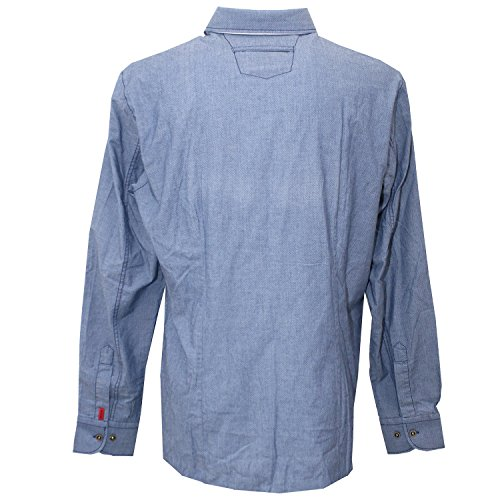 Signum, Freizeithemd langarm, Regular Cut, blaaugrau gepunktet [16134] blaaugrau gepunktet
