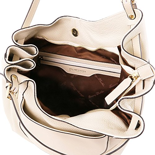 Tuscany Leather Cinzia - Sac shopping en cuir souple - TL141515 (Beige) Beige