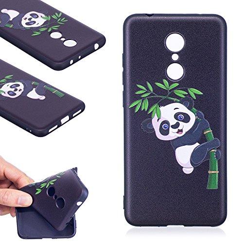 Coque Xiaomi Redmi 5,Linvei TPU Silicone Housse Étui Coque de Protection avec Absorption de Choc Anti-Scratch Anti-Slip et Résistant aux Rayures (5,7 Pouces) - Panda bambou