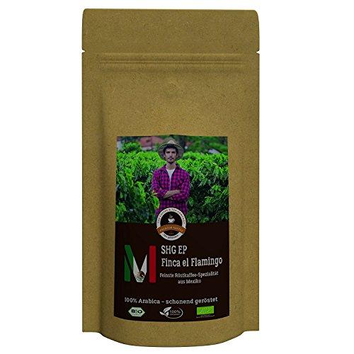 Kaffee Globetrotter - Mexico Finca El Flamingo - Bio - 500 g Grob Gemahlen - für Stempel-kanne French-Press Kaffeebereiter - Spitzenkaffee - Röstkaffee aus biologischem Anbau
