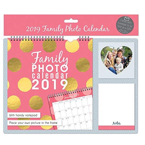 Cake Factory 2019 Familien-Foto-Kalender mit Notepad einfügen Foto Home Planner (Pink)