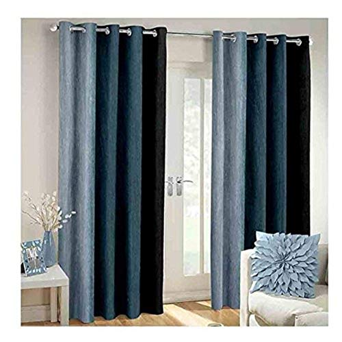 check MRP of black grey curtains Galaxy Home Decor