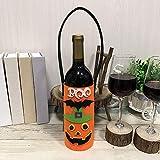Leey Borsa della bottiglia del vino della tela di canapa di 2PCS Borsa della bottiglia del tessuto della non-decorazione della decorazione di festa di Halloween (B)