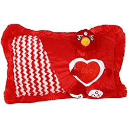 Gifts Online Soft Love Cushion Pillow For Kids, Gift For Her (Red)
