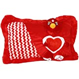 Jiada Soft Love Cushion Pillow For Kids, Gift For Her (Red)