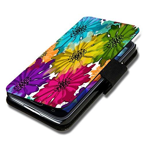 Book Style Flip Handy Tasche Case Schutz Hülle Schale Motiv Foto Etui für Huawei Ascend G620s - X9 Design5