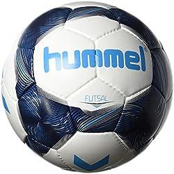 Hummel Niños Sala Fútbol, White/Vintage Indigo/Turquoise, 4