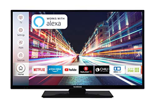 Techwood H32T52C 81 cm (32 Zoll) Fernseher (HD-Ready, Triple-Tuner, Smart TV, Prime Video, Works with Alexa) Lcd-tv-kabel