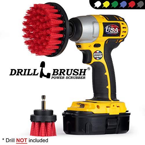 Drill Brush - Cordless Drill - Drill Brush Attachment - Cleaning Brush for Drill - Drill Brush Set - Drill Scrubber - Drill Attachments - Outdoor - Concrete - Garden - Patio - Bird Bath - Headstones