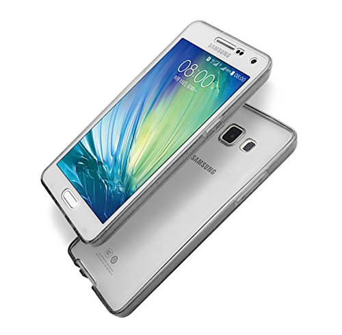 Coque Samsung Galaxy A3 (2015 Version) Etui,Vandot Ultra Mince Housse Samsung Galaxy A3 (2015 Version) Silicone Transparent Case pour Samsung Galaxy A3 (2015 Version) Coque de Protection en TPU avec A Transparent-Noir