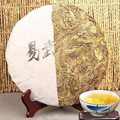 Thé pu-erh cru 357g (0.79LB) Gâteaux au thé Pu erh Thé puerh aux feuilles d'or Feuilles dorées Thé savoureux au thé de sheng Thé cru Thé Pu'er Thé-puer chinois Thé Thé vert