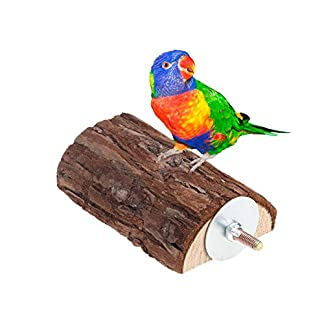 Dairyshop Pet Parrot Bird Cage Wooden Perches Stand Platform Parakeet Budgie Rat Play Toy 22