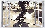 Skateboard Skater Skaterplatz Wandtattoo Wandsticker Wandaufkleber F0923 Größe 70 cm x 110 cm