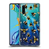 Head Case Designs Pattern Bees Soft Gel Case Compatible for Huawei P30