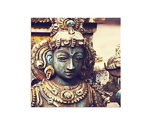 80x80cm - WANDBILD Sri Lanka Skulptur Gott Hinduismus - Leinwandbild auf Keilrahmen modern stilvoll - Bilder und Dekoration