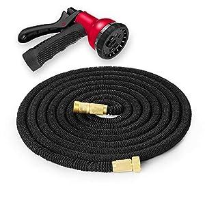 Tubo flexible para manguera de jardín – Manguera duradera con 8 modos rociadores y conectores de bronce – Esencial para…