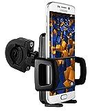 mumbi TwoSave Fahrradhalter für Samsung Galaxy S6 / S6 Duos / S6 Edge Motorrad und Fahrrad Halterung doppelt gesichert / Hoch + Querformat