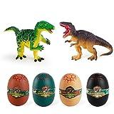 Baby Spielzeug,Binggong Kreatives Simulations-Dinosaurier-Spielzeug-Modell verformte Ostern-Dinosaurier-Ei-Sammlung Hochwertiges Kleinkindspielzeug Sensory Play (9*5CM, Zufällige Farbe)