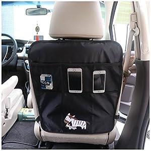 Auto Sedile per Sedile Auto Backseat Custodia Bambini Calci Fango Tappeto Pulito Protettori per sedile contenitori per auto Nero