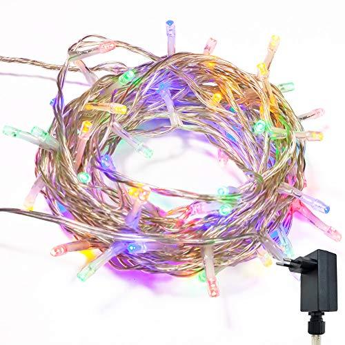 Catena luminosa stringa luci wisd con 8 modalità, funzione di memoria, decorativa da interni e esterni, bassa tensione, 102.8m 1000 led catena luci per casa/natale / giardino/feste - colori