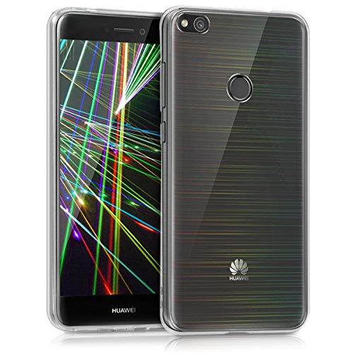 kwmobile Hülle für Huawei P8 Lite (2017) - TPU Silikon Backcover Case Handy Schutzhülle - Cover klar Laser Design Mehrfarbig Transparent