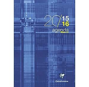 CLAIREFONTAINE - 1 Agenda WHEN 21 - Août 2015 à juillet 2016 - Format 21x29.7cm