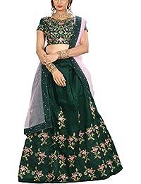 ShreeBalaji multicolor silk embroidary Lehenga Choli (SBE-020_Free Size)