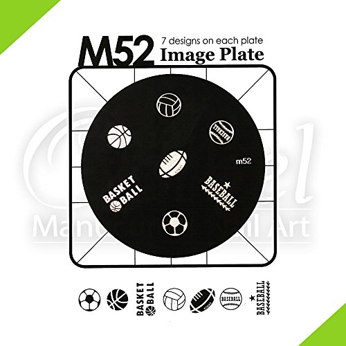 KONAD Ocibel - Plaque pochoir M52 - Manucure, Faux Ongles et Nail Art