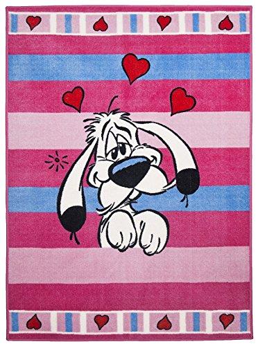 Theko moderne Designer tapis couleur rose variations de taille 133 x 180 cm
