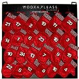 Wodka Adventskalender an handgefertigter Holztafel zum Aufhängen oder Hinstellen (wiederverwendbar) | 24 x polnischer Wodka/Wodkalikör
