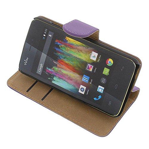 Tasche für Wiko Kite 4G Book Style lila Kreditkarte Schutz Hülle Buch