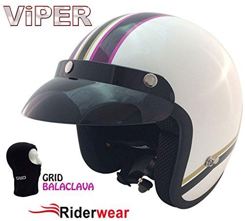 Da donna nuovo stile moto scooter casco aperto tour moderna stile retrò road trip rosa estate