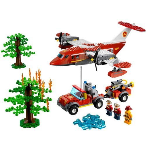LEGO-CITY-Forest-Fire-Kids-Playset-w-Plane-Truck-3-Minifigures-4209-by-LEGO