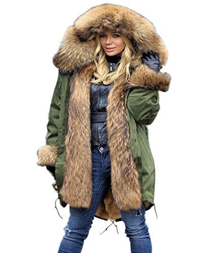 Aofur Chaqueta mujeres Ropa Abrigo largo caliente