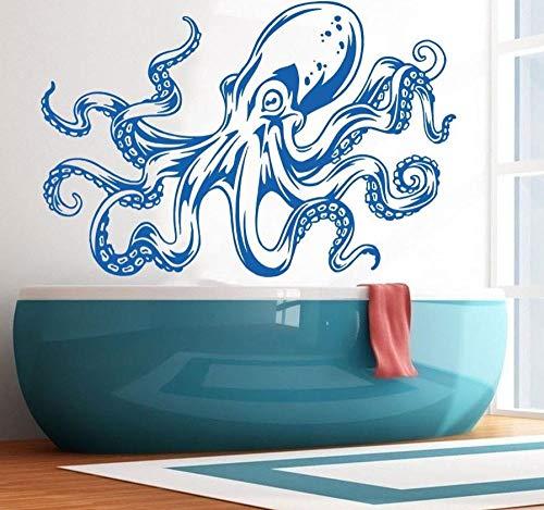 wwwff Nautische Badezimmer Octopus Tentacles Wandtattoo Art Decor Aufkleber Vinyl DIY Bewegliche Wandbild für Kinderzimmer Wohnkultur 85 * 57 -