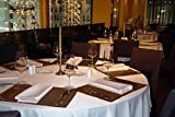 FEMOR Lot de 10 Nappe Blanche Nappe de Table Nappe Ronde pour Maison Restaurant Mariage Cérémonie (228cm)
